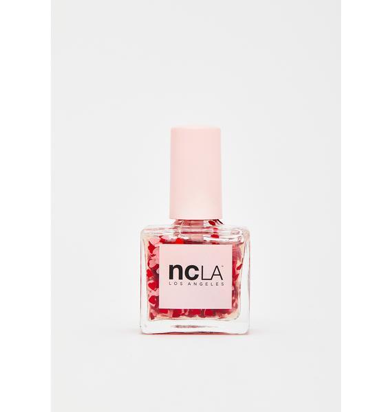 NCLA Heart Attack Red Glitter Nail Polish