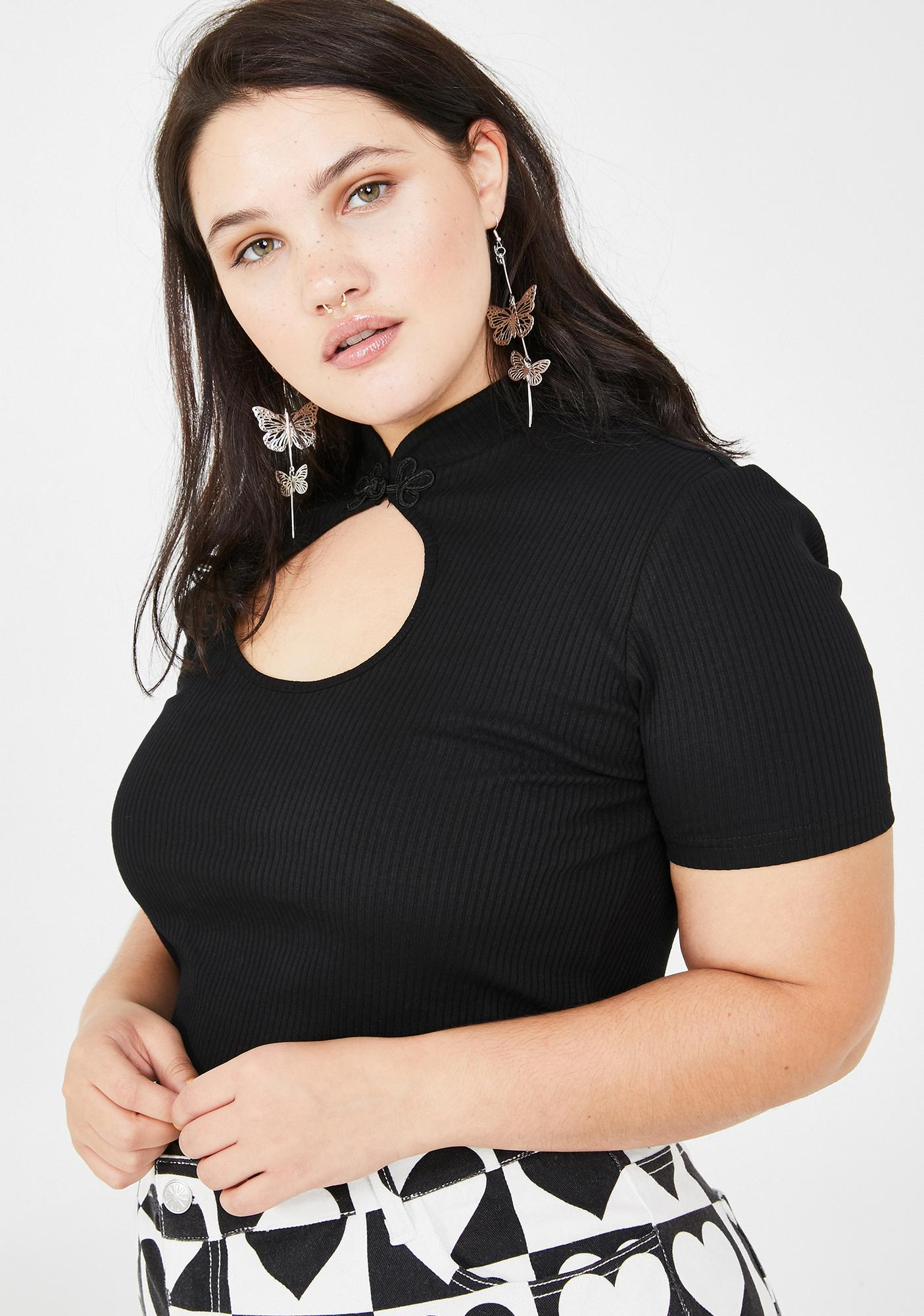 dELiA*s by Dolls Kill Duh Totally Over It Crop Top
