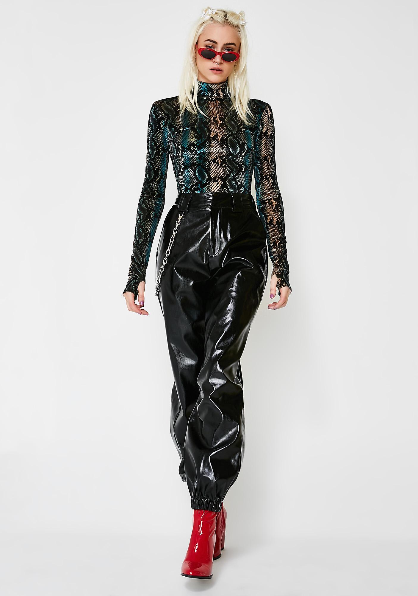 I AM GIA Snakeskin Kenzie Bodysuit