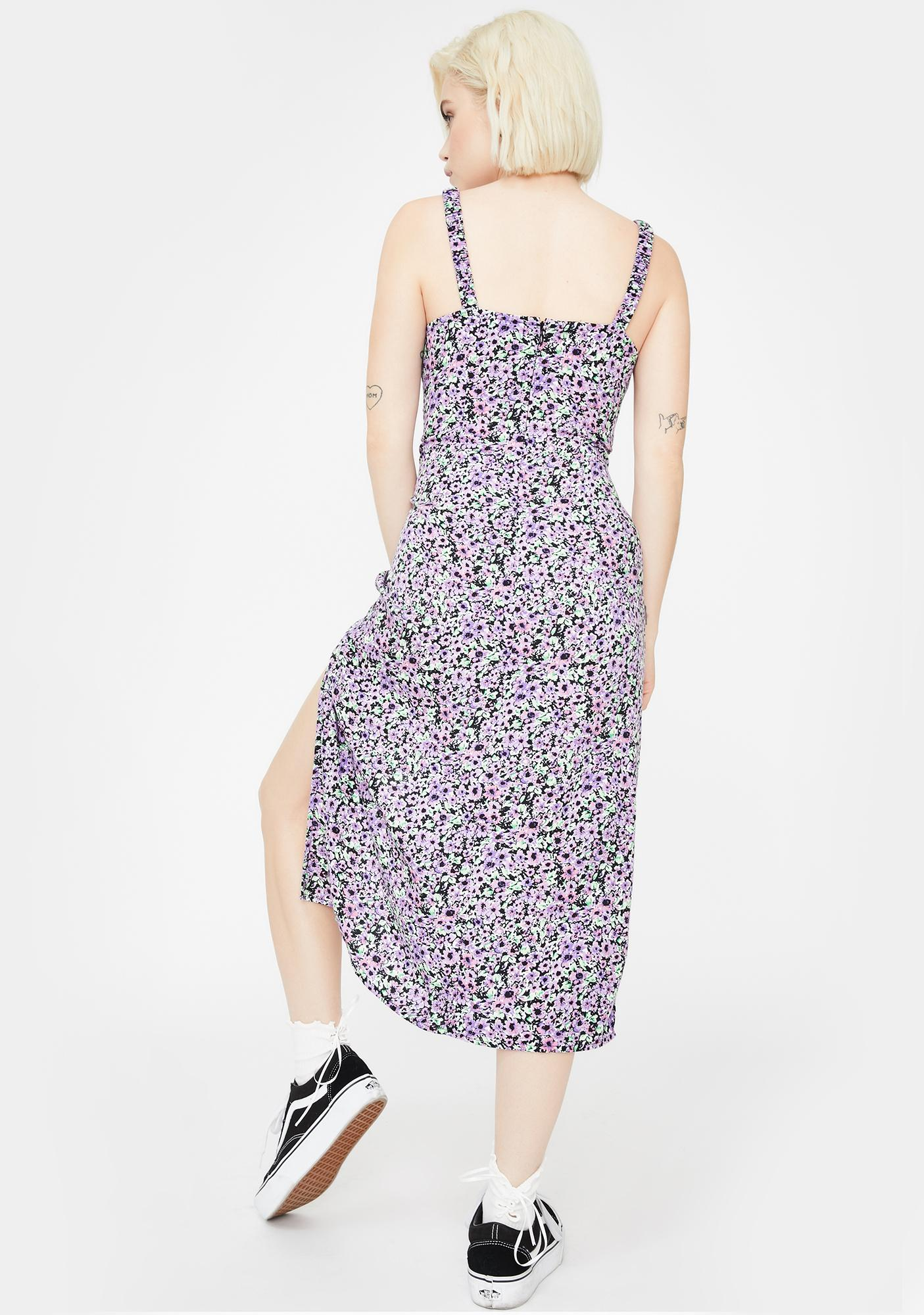 Motel Lilac Blossom Jova Midi Dress