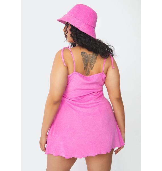 Current Mood Go Wild For A While Terry Cloth Mini Dress