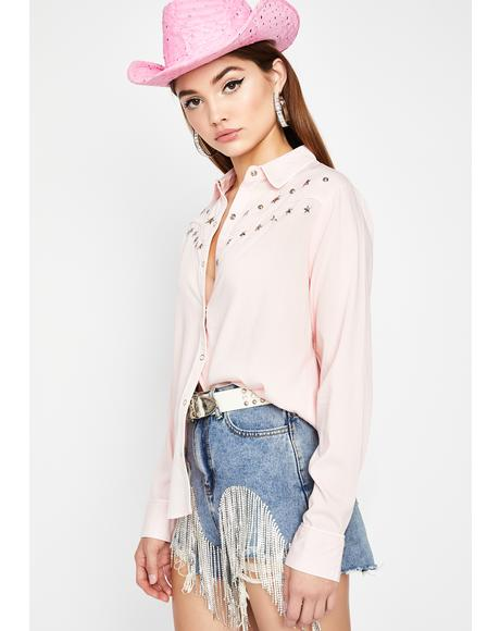 Sweet Rodeo Heaux Button Up Shirt