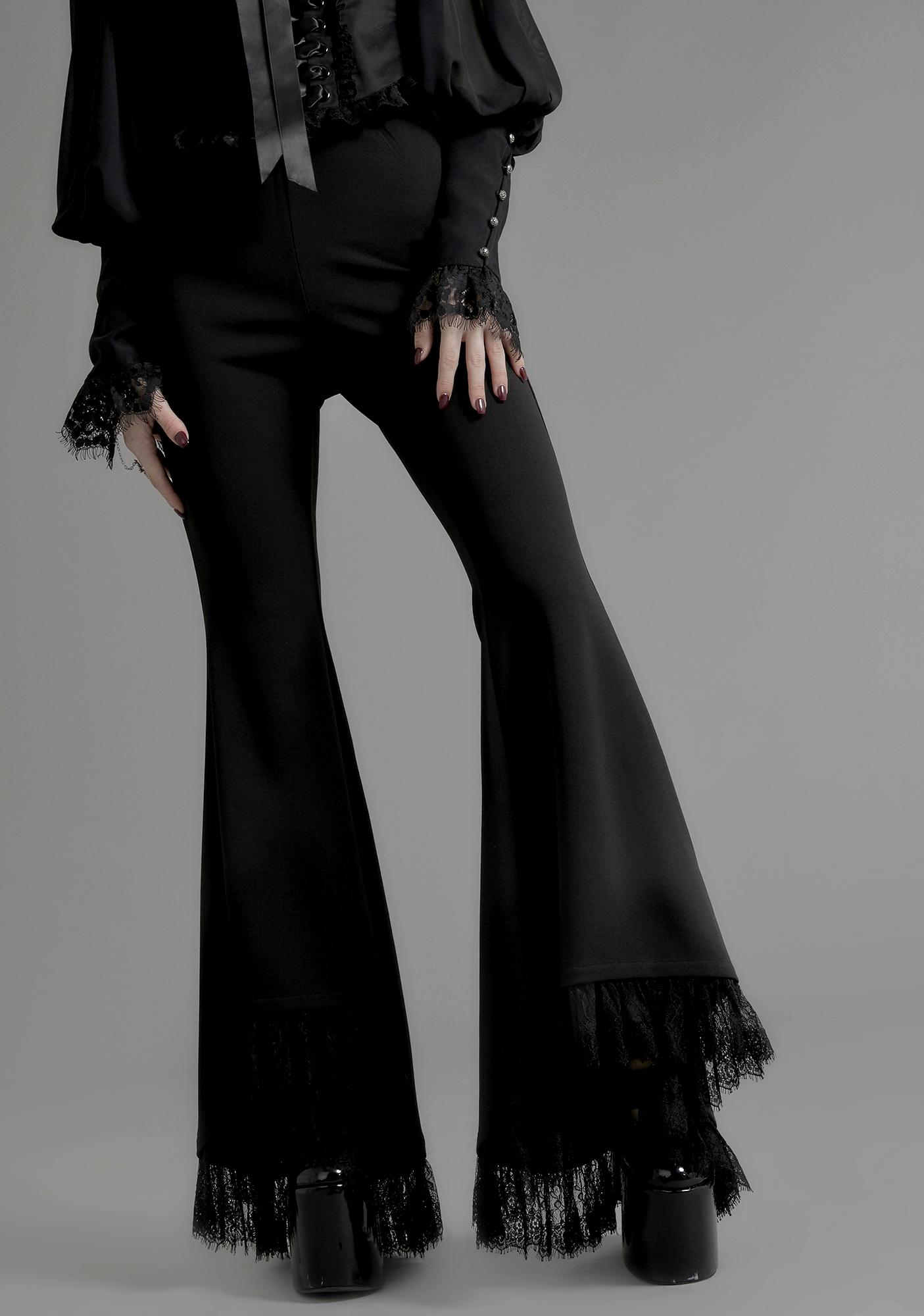 Widow Divination Lace Bell Bottoms