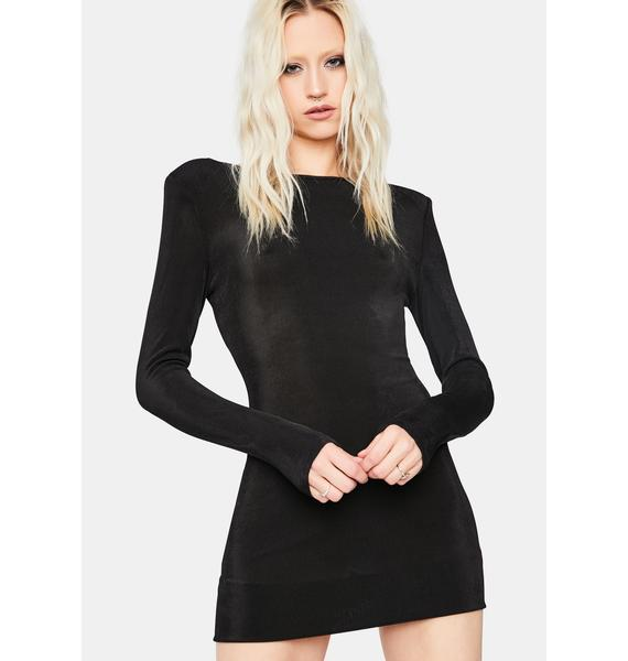 Feeling Flirtatious Open Back Mini Dress