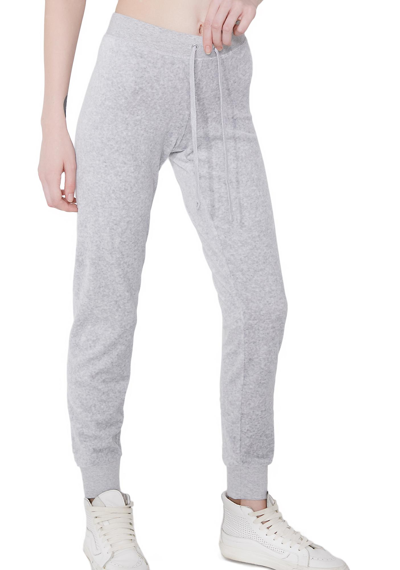 JUICY COUTURE Silver Lining Zuma Velour Pants