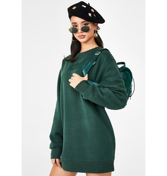 Poster Grl Woke Up Like This Sweatshirt Dress