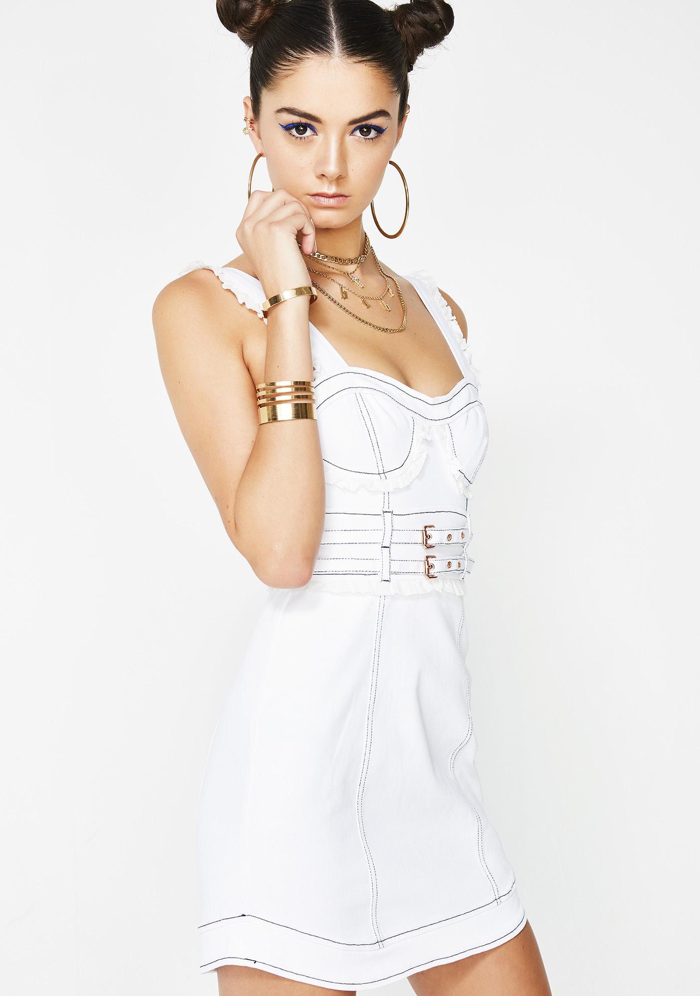 For Love & Lemons Daria Denim Underwire Dress