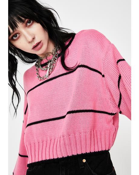 Pink Ella Cropped Sweater
