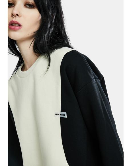 Wave Two-Tone Sweatshirt