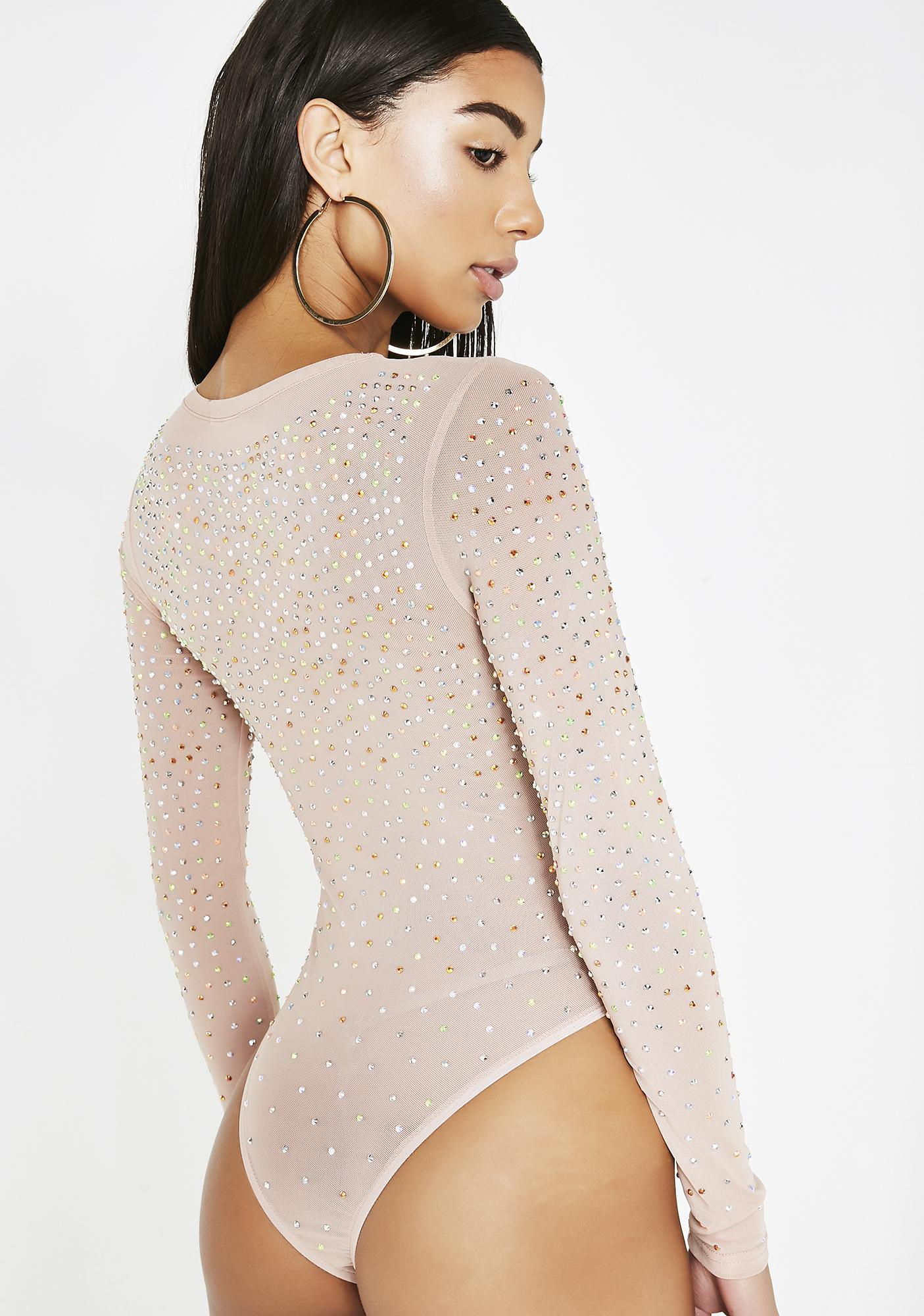 Bling Obsessed Sheer Bodysuit