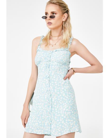 Celadon Site Floral Dress