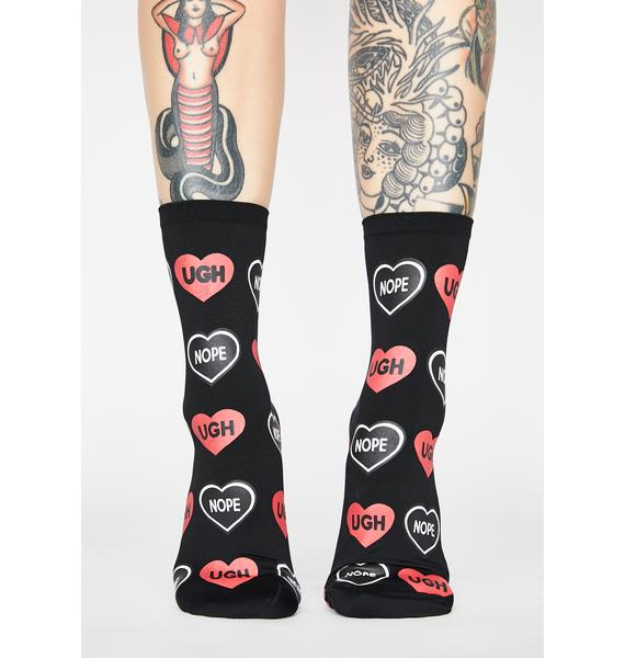 MeMoi Candy Hearts Ankle Socks