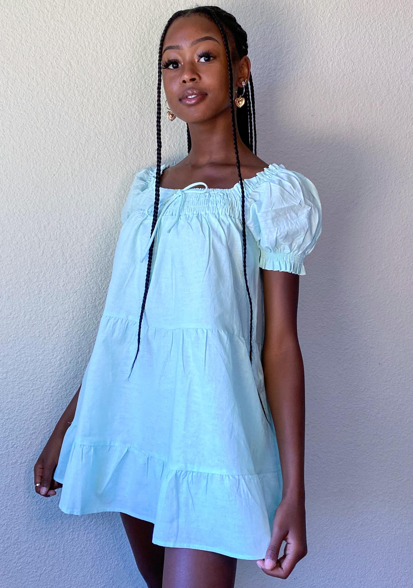 Mint Prairie Paradise Mini Dress