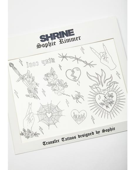 X Sophie Rimmer Hearts Temporary Tattoos