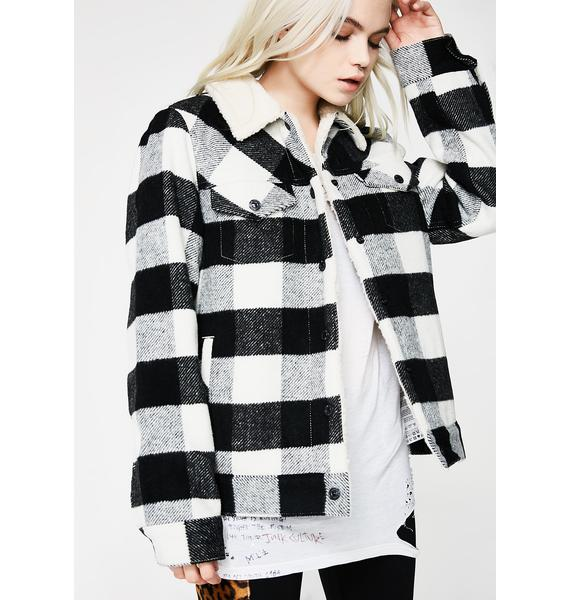 Levis Wool Boyfriend Sherpa Trucker Jacket