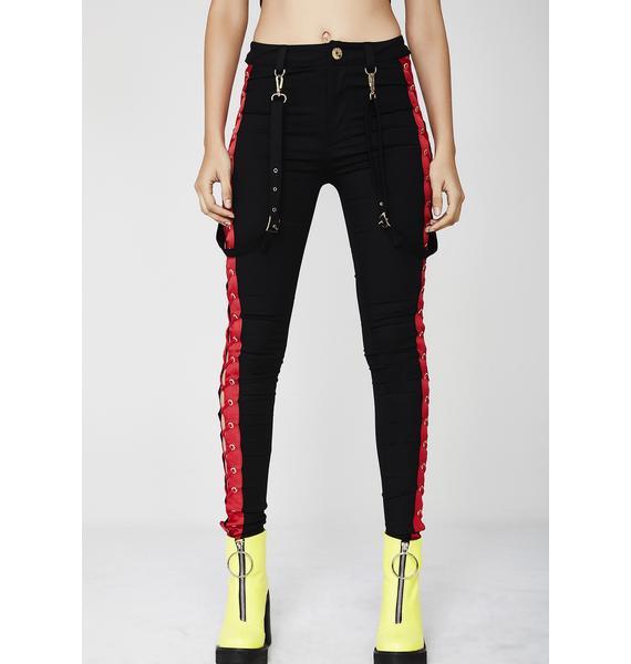 Kiki Riki Hell Rider Suspender Pants