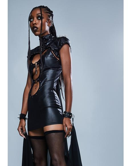 Hell Awaits Cutout Mini Dress