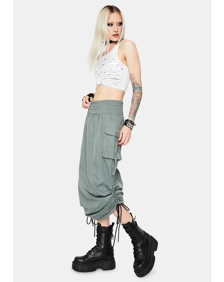 Company Needed Cargo Midi Skirt