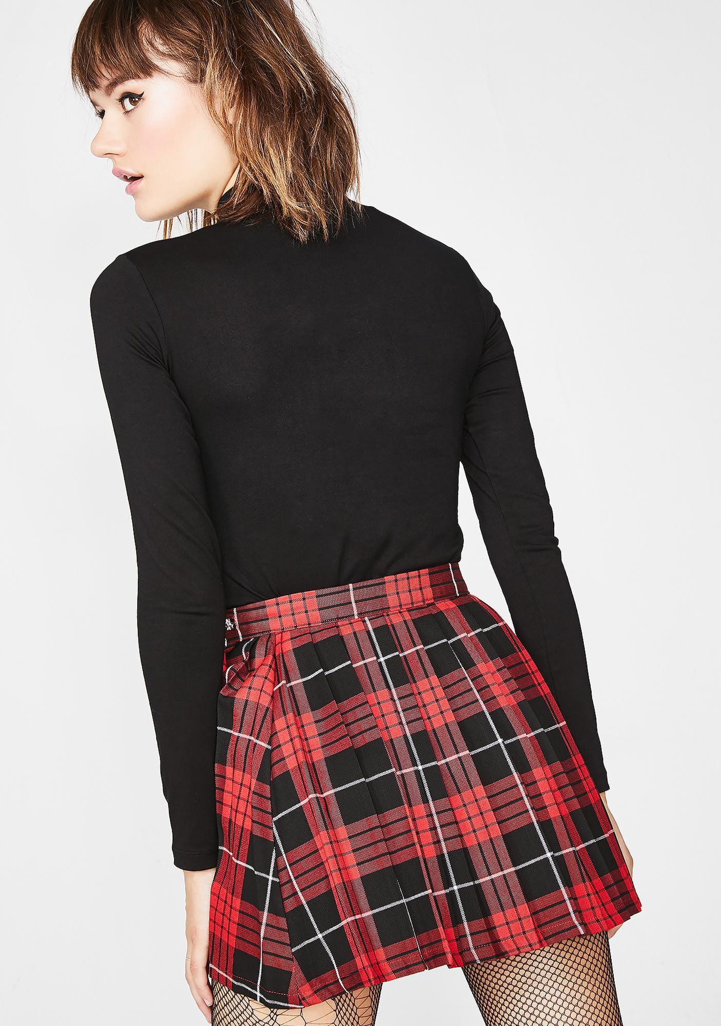 LOVE TOO TRUE Courtney Pleated Plaid Skirt