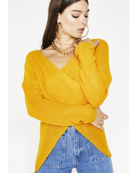 Sunny Move Along Wrap Sweater