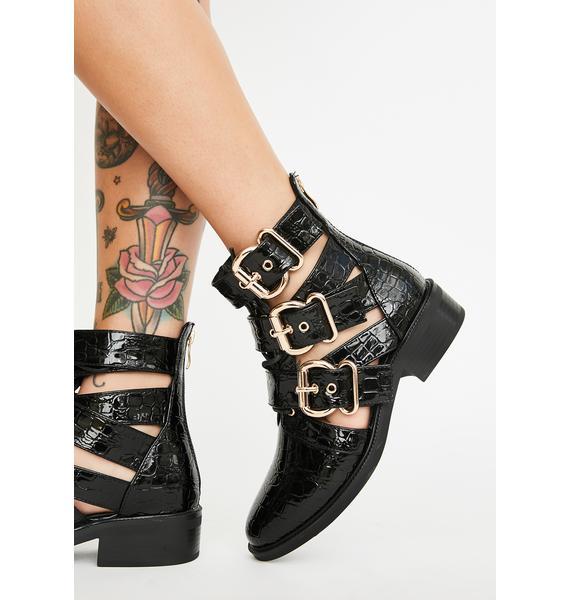 AZALEA WANG Issy Buckle Boots
