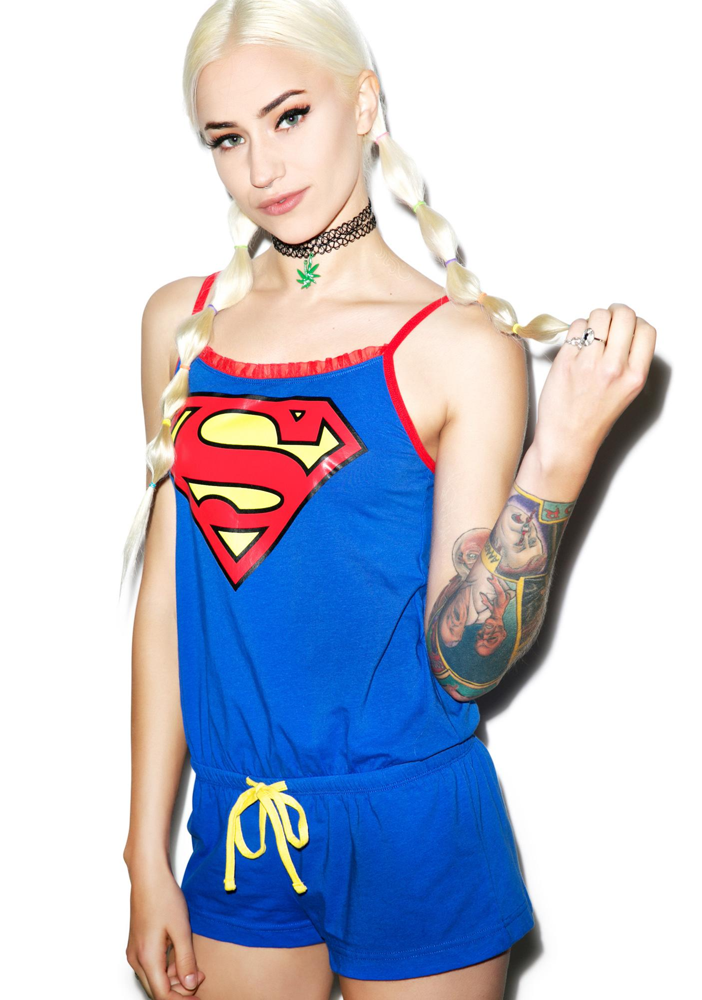 Undergirl Superman Romper