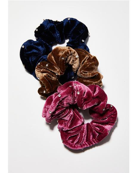 Charmed Life Velvet Scrunchie Set