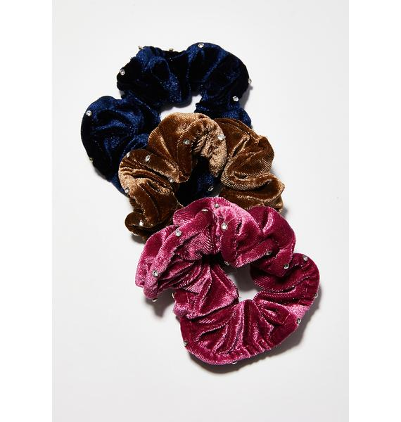 Charmed Life Velvet Scrunchie Set