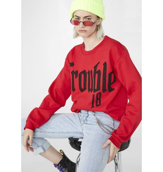 Illustrated People Trouble Graphic Sweatshirt
