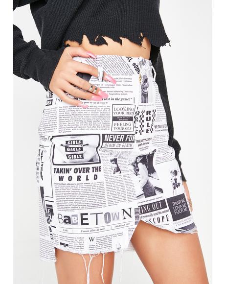 Carrie Paper Skirt
