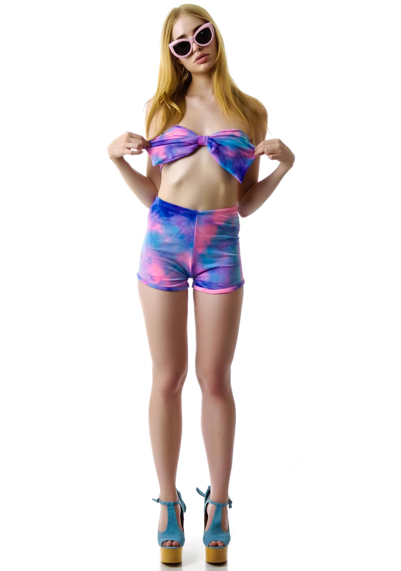 Marialia Cotton Candy High Waist Swimmies