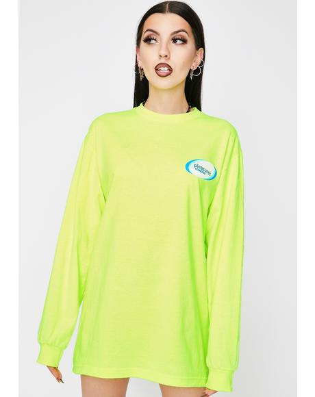 Green Raw Power Long Sleeve Tee