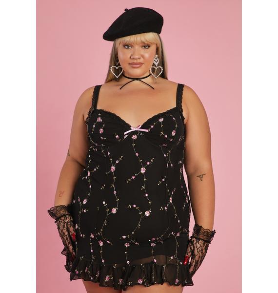 Sugar Thrillz She's Homemade With Love Slip Dress