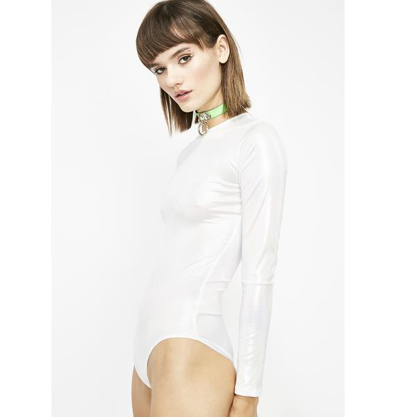 Frost Beam Me Up Iridescent Bodysuit