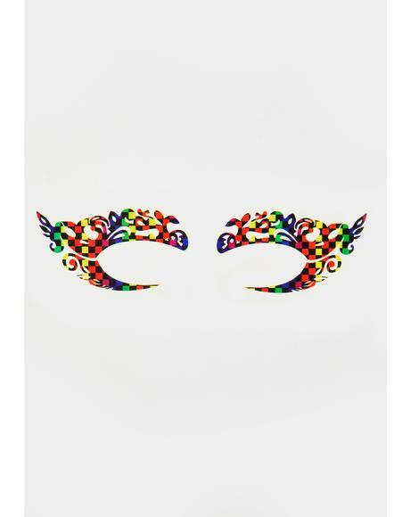 Fractal Freak Temporary Eye Tattoos