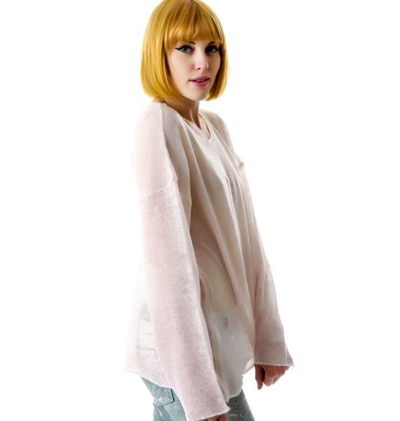 Wildfox Couture Guardian Angel Ringo Sweater
