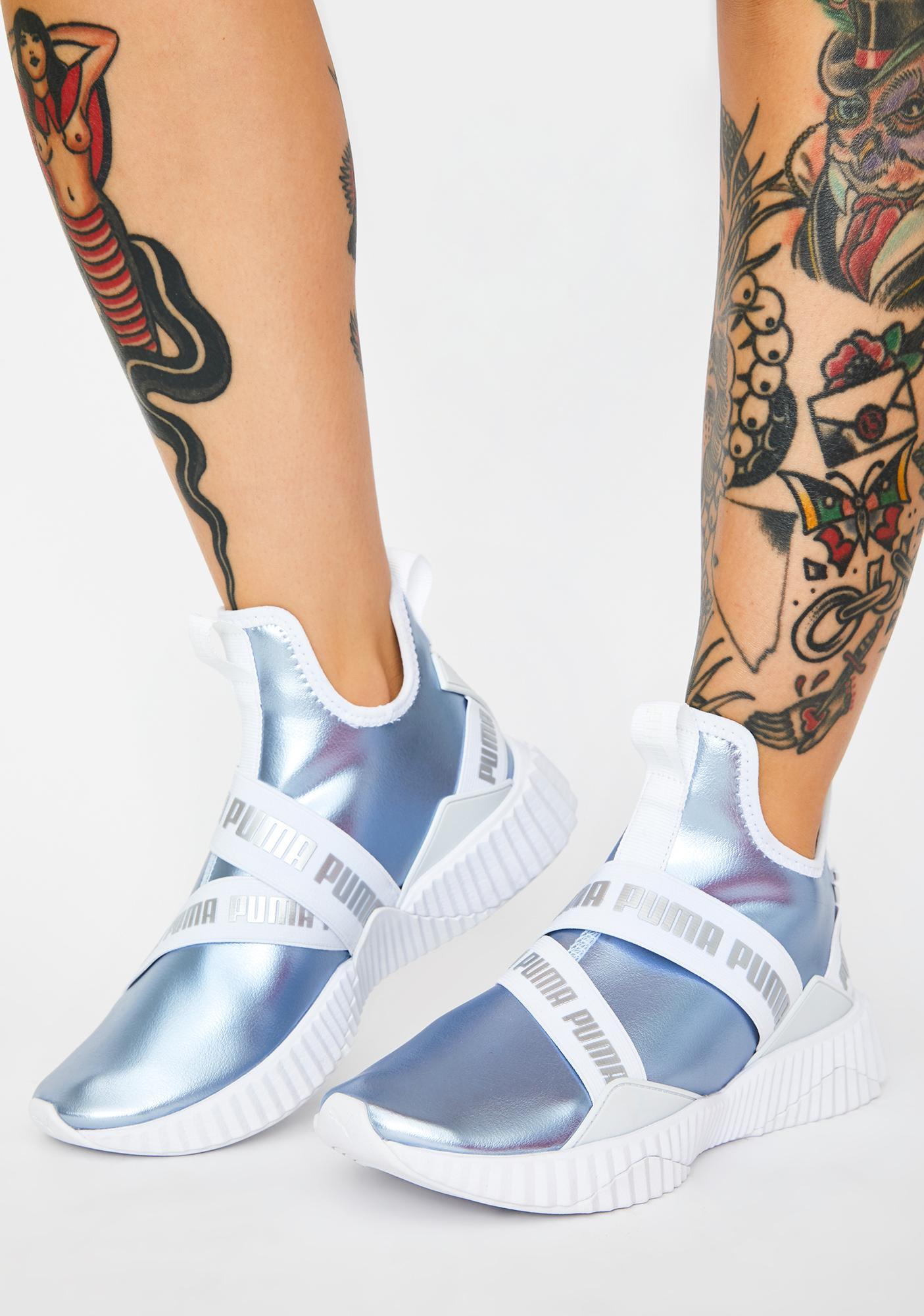 PUMA Defy Mid Metallic Sneakers