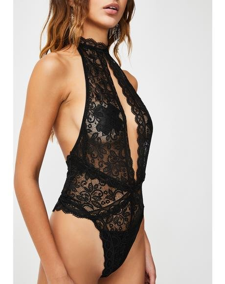 Dark Harlot Hillz Lace Teddy