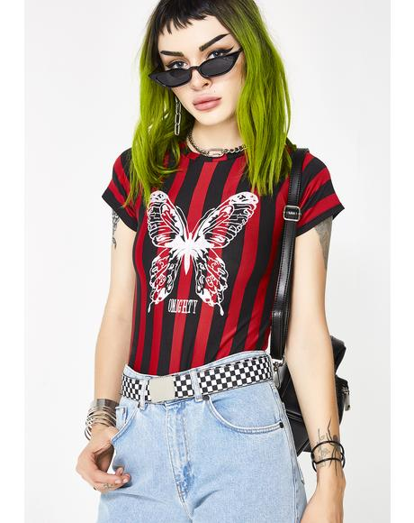 Butterfly Striped Tee