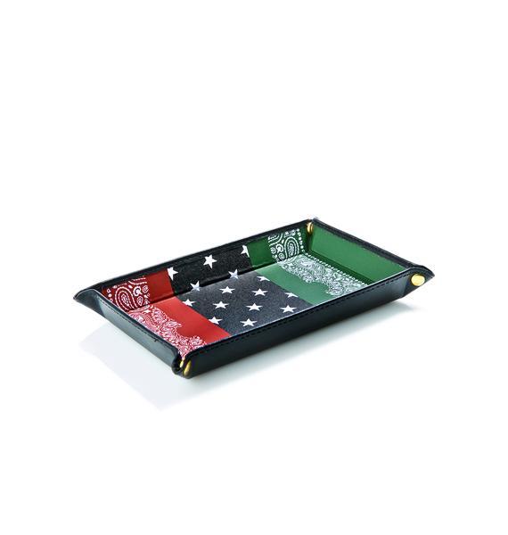 Black Scale RBG Bandana Accessory Tray