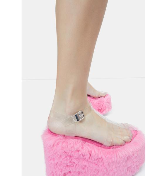 Lemon Drop by Privileged Pink Zahara Platform Sandals