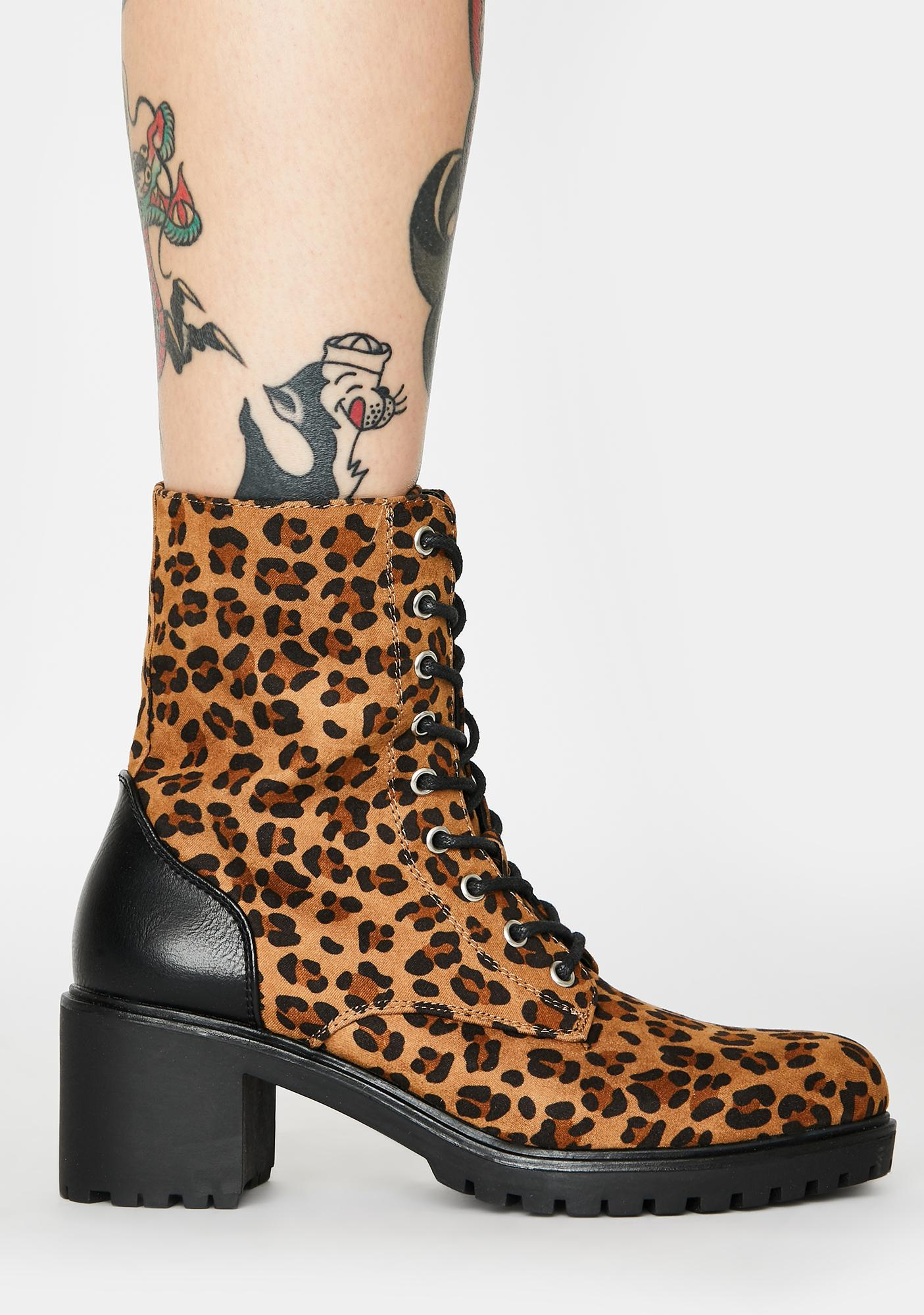Gives U Hell Leopard Boots