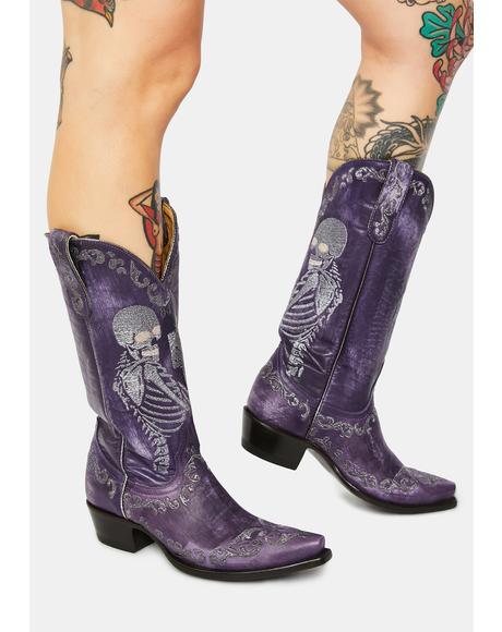 Violet Selfie Cowboy Boots