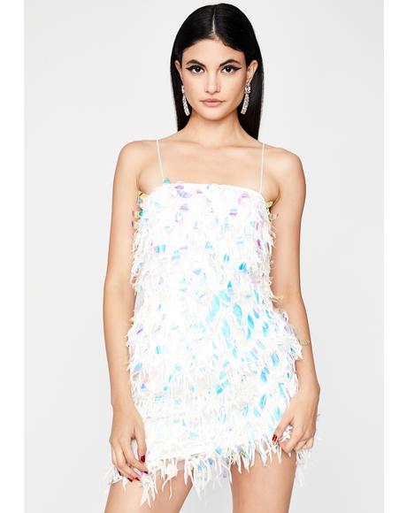 Shake Ya Tail Feathers Mini Dress