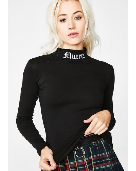 Muerta Inside Mock Neck Top