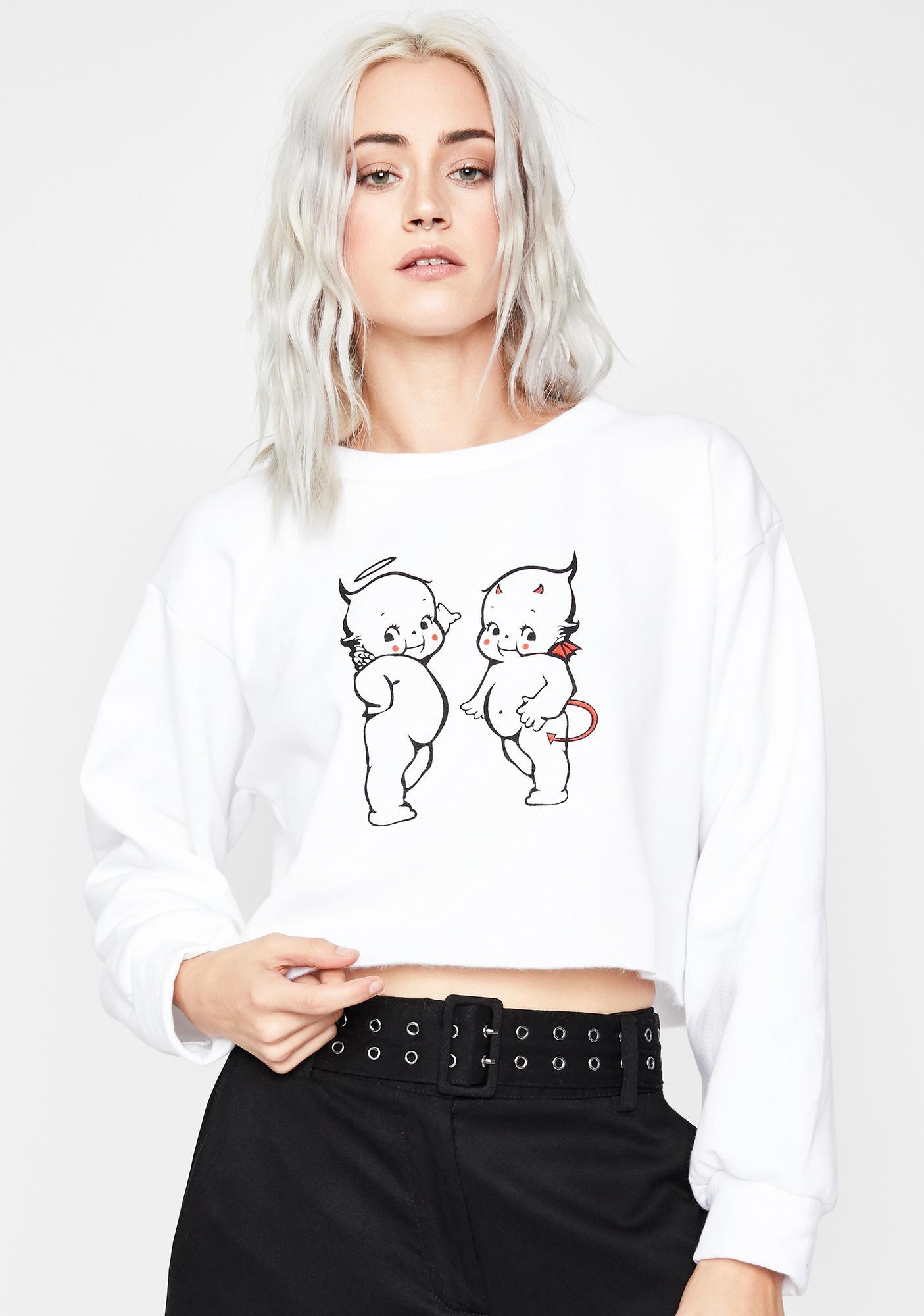 Internal Conflict Crop Sweatshirt