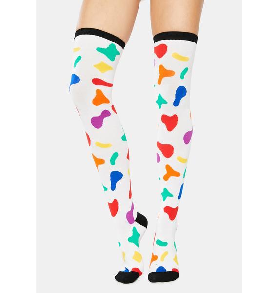 Magic Milk Thigh High Socks