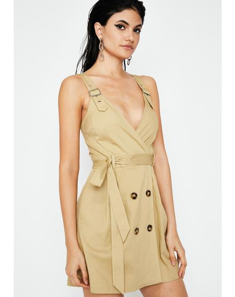 Bossed Up Trench Mini Dress