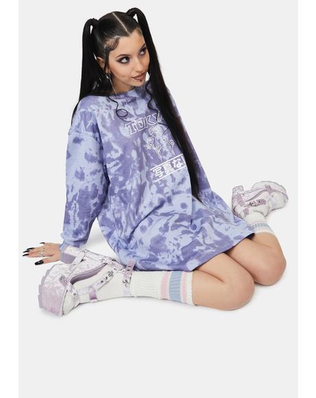 Tokyo Tie Dye Sweatshirt Dress
