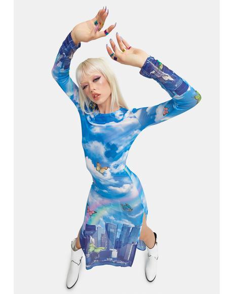 Modern Utopia Mesh Maxi Dress